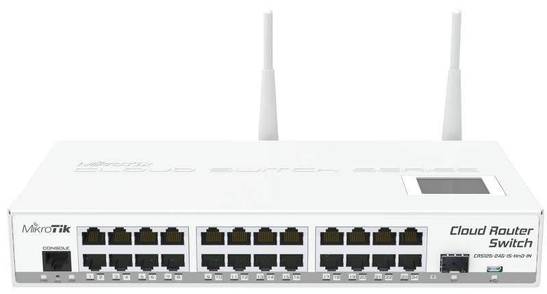 CloudRouterSwitch 125-24G-1S-2HnD-IN 24 Port Gigabit Desk L3